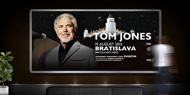 Grafický design kampaň Tom Jones - billboard