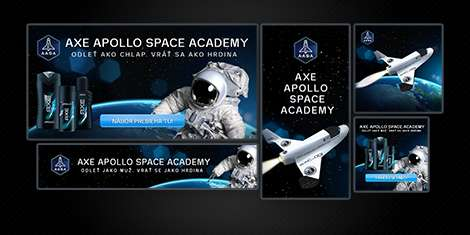 Flash bannery AXE Apollo Space Academy